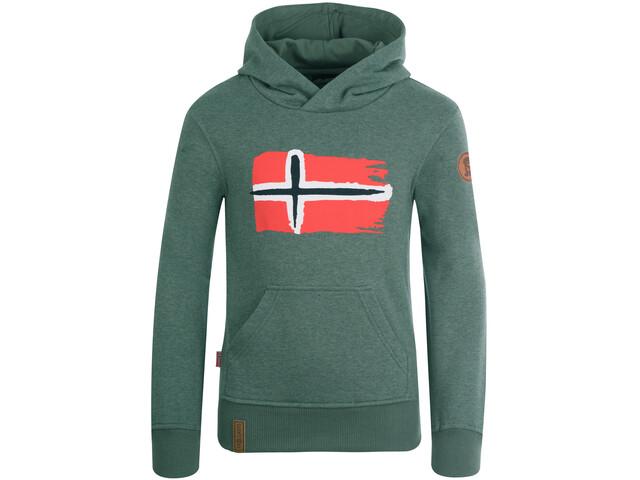 TROLLKIDS Trondheim Maglione Bambino, khaki green